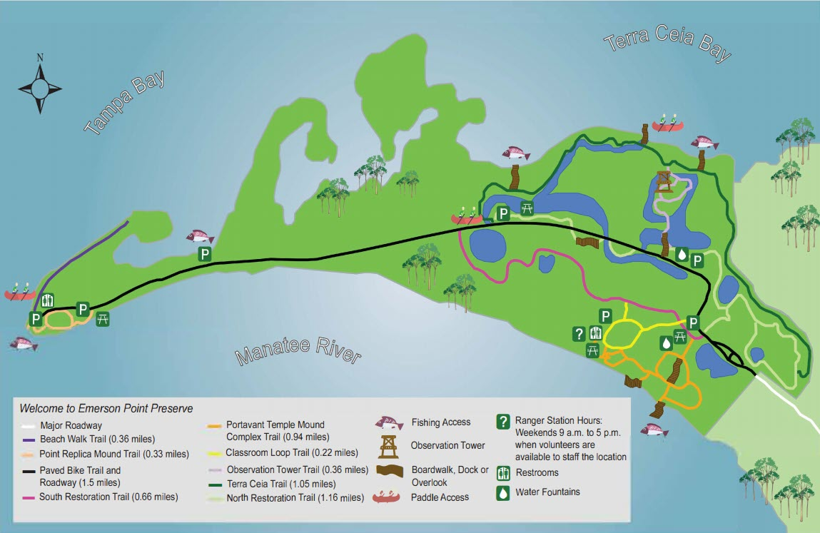 Emerson Point Preserve Map